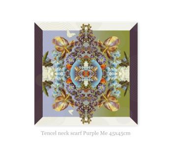 Halssjaaltje Purple Me van Tencel 45x45cm - origineel cadeau