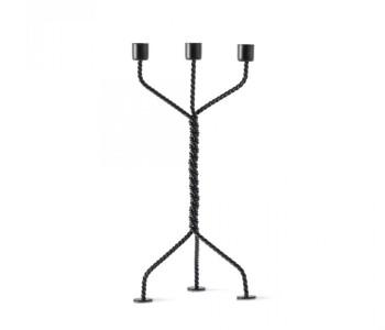 Twisted Kerzenhalter in Schwarz