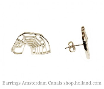 Manschettenknöpfe Canals of Amsterdam von Studio Admiraal in Sterling Silber
