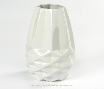 Diamant Vase S Fairtrade Original Weiß Facetten Small