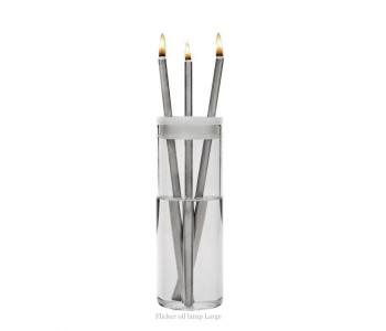 Flicker Öllampe von Duo Design Edelstahl inklusive Lampenöl