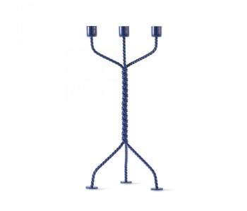 Twisted Kerzenhalter in Blau