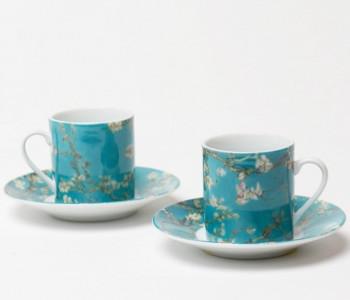 Dutch Design Porzellan Espressotassen Vincent van Gogh Mandelblüten