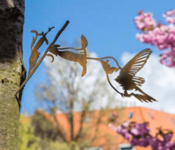 Metalen vogel Uil van Metalbird: een leuke tuindecoratie cadeau