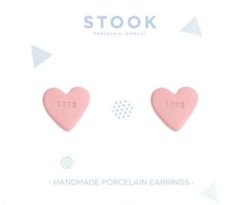 Snoep Oorbellen in roze - love  van STOOK Sieraden