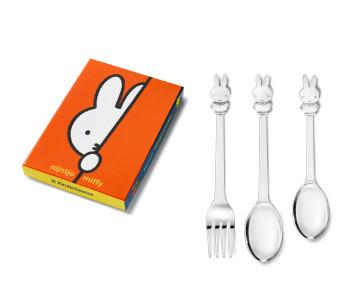 Miffy Geschenke, Miffy Kindergeschenk, Kinderbesteck, Besteckset