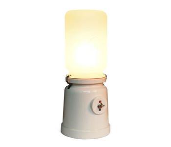 Cor Unum weiße Tischlampe Meck Kranen und Gille