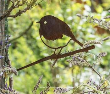 Metalbird metalen vogel IJsvogel voor in je tuin