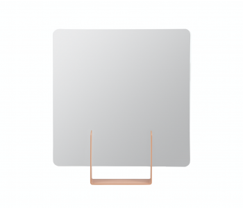Look spiegel vierkant roodbruin van Dutch design merk Ignore uit Amsterdam