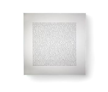 Spiegel mit Text Goods Komplimente Niederländisch