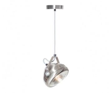 No.5 Vintage Hanglamp Koplamp RVS met lichtgrijs snoer koop je bij shop.holland.com