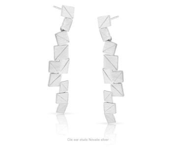 Clic oorbellen Novalie zilver koop je bij shop.holland.com