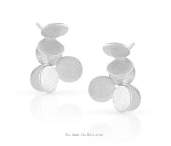 Clic oorstekers Belle Zilver - een heel mooi cadeau