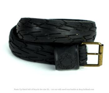 Pants Up broekriem XL 110cm van fietsband in het zwart bij shop.holland.com
