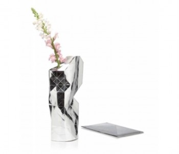 Pepe Heykoop Design Paper Vase Cover in Silber