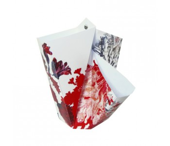 Faltvase Rot BY HENDRIK 1