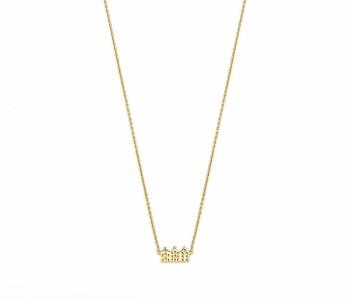 Halskette Grachtenhäuser 14 kt Vergoldet – von Riverstones