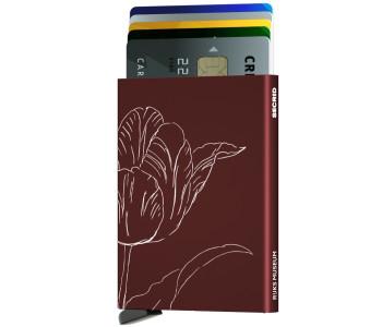 Secrid Cardprotector Tulp Bordeaux - fantastisch cadeau voor haar