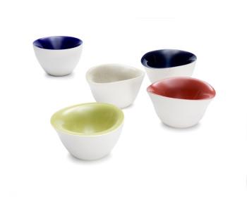 Olaf Slingerland Schalen Weiß-Rot Keramik Slowmotion Goods
