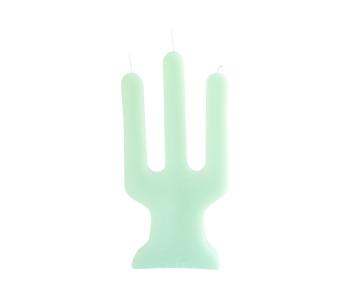 Tri-light Kerze Elfenbein von Atelier OZO aus recyceltem Wachs von Kirchenkerzen
