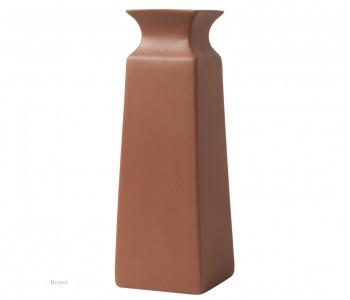 Vaas vierkant terracotta bruin 20 cm hoog