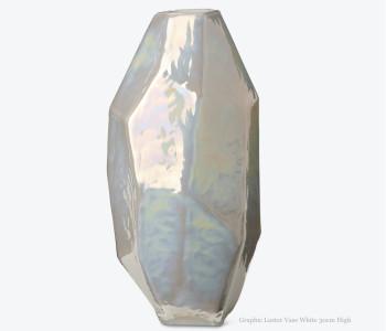 Pols Potten Graphic Luster Vase 30 cm Buntglas, ein attraktives Geschenk