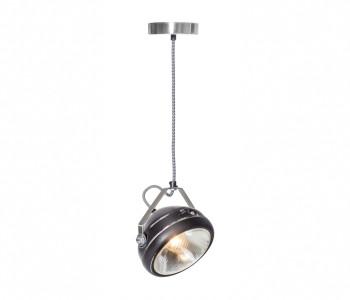 No.5 Vintage Hanglamp Koplamp zwart met zwart wit gestreept snoer koop je bij shop.holland.com