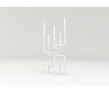 Kerzenleuchter Design Frederik Roijé Walk of Flame Weiß