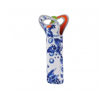 Handliche Delfter Blau-Weinkühltasche aus Neopren #Dutch #Design