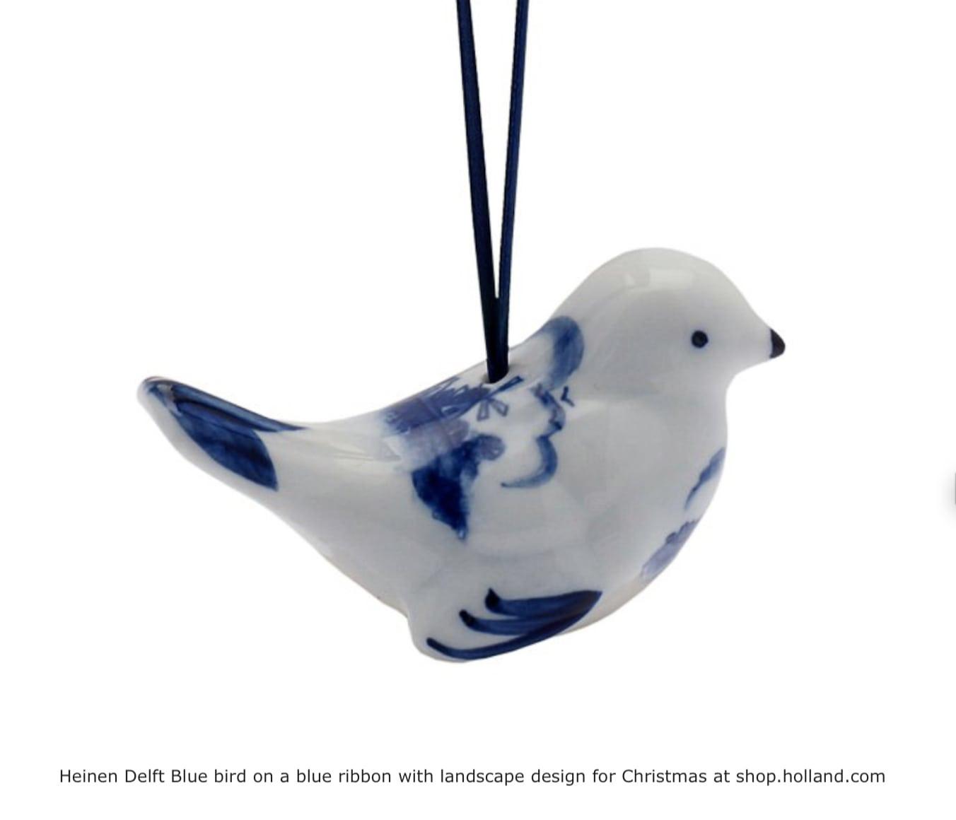 Delfter Blau Christbaumschmuck Vogel Shop Holland Com