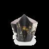 Bogenvase Chrysanthemen L – schwarz mit Gold
