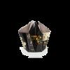 Bogenvase Chrysanthemen S – schwarz mit Gold