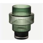 Steps Teelichthalter grau, grün oder bernstein 15 cm