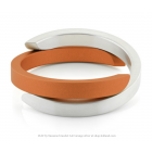 Clic Armband A1O matt Silber - Orange