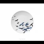 Delfter blau Teller mit Vögeln