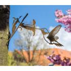 Metall-Vogel Kolibri Silhouette von Metalbird