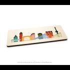 CRE8 Rotterdam Puzzle aus Plexiglas und Birkenholz