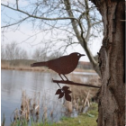 Metall-Vogel Amsel von Metalbird für den Garten