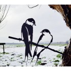 Schwalbe von Metalbird - Metall-Vogel Silhouette