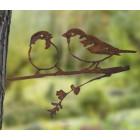 Metall-Vogel Spatz von Metalbird für den Garten