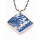 Delfter Blau Glück Anhänger von Royal Delft - in Silber gerahmt