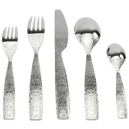 Design 5-teiliges Gedeck mit Gabel und Messer und Löffel Marcel Wanders für Alessi