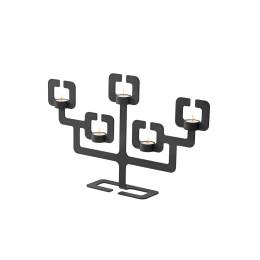 Kerzenhalter Functionals Roderick Vos Bonsai 5 Schwarzer Stahl
