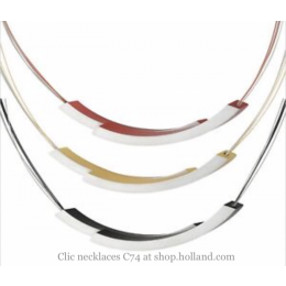 Dutch Design Clic Creations Halskette, Click Creations Schmuckstücke, Kette Frau Kreis, Fashion und Accessoires