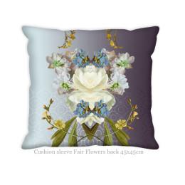 Hendrik' Design Kussenovertrek White Fair Flowers 45x45 cm koop je bij shop.holland.com