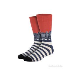 Grachtenpanden sokken blauw van Heroes on Socks - maat 36-40