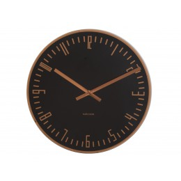 Karlsson Wall Clock XL Slim Schwarz