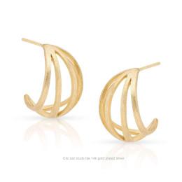 Clic oorstekers Ilja 14k verguld zilver koop je bij shop.holland.com