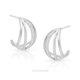 Clic oorstekers Ilja zilver koop je bij shop.holland.com