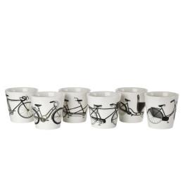 Becher aus Porzellan, Pols Potten, Weiß mit Gold, Teeservice Freedom Birds